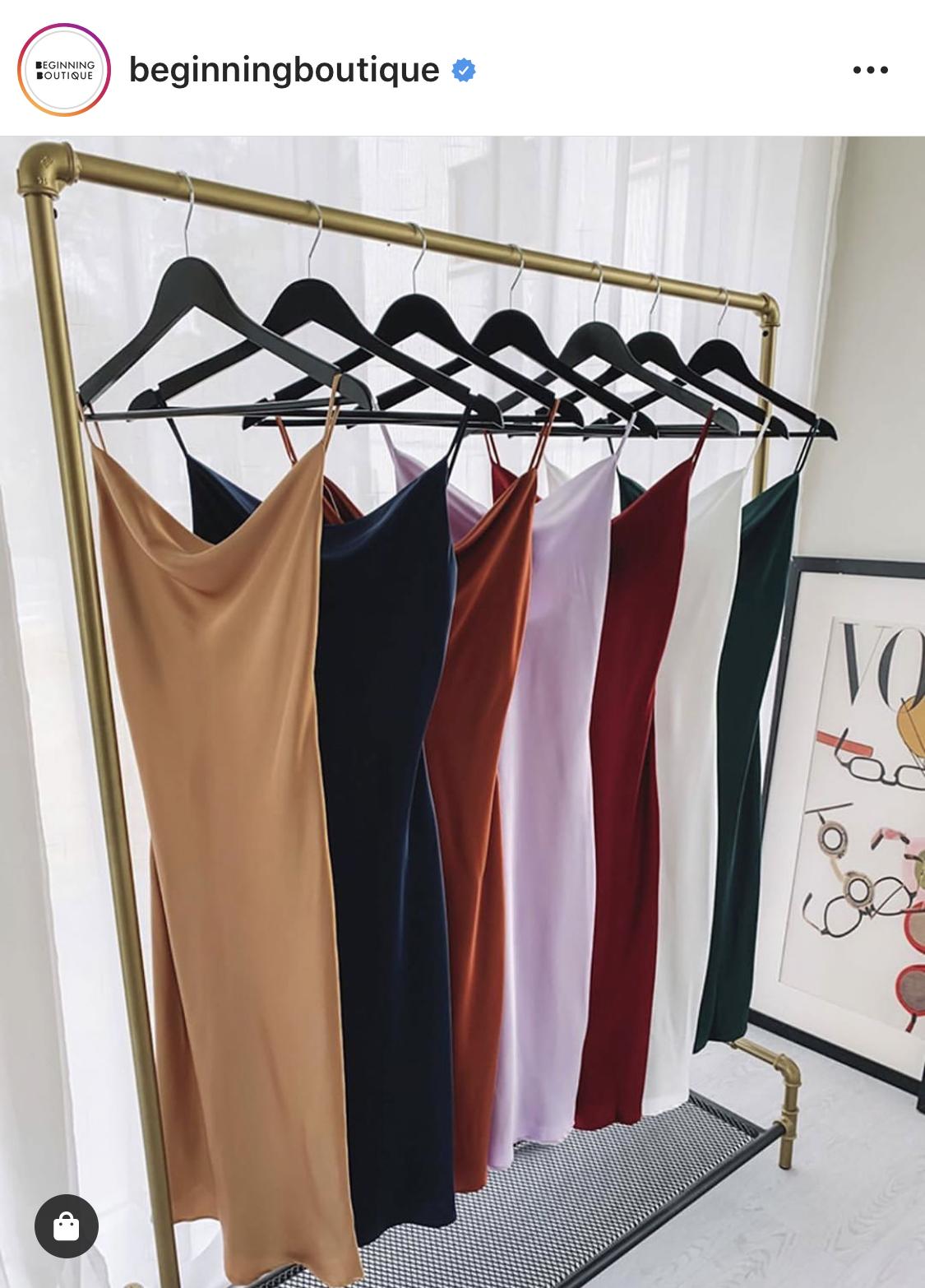 the perfect satin slip dress